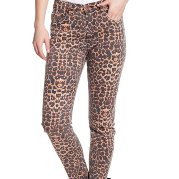 One Teaspoon Denim - One Teaspoon Black Cat Scallywag Leopard Jeans 26